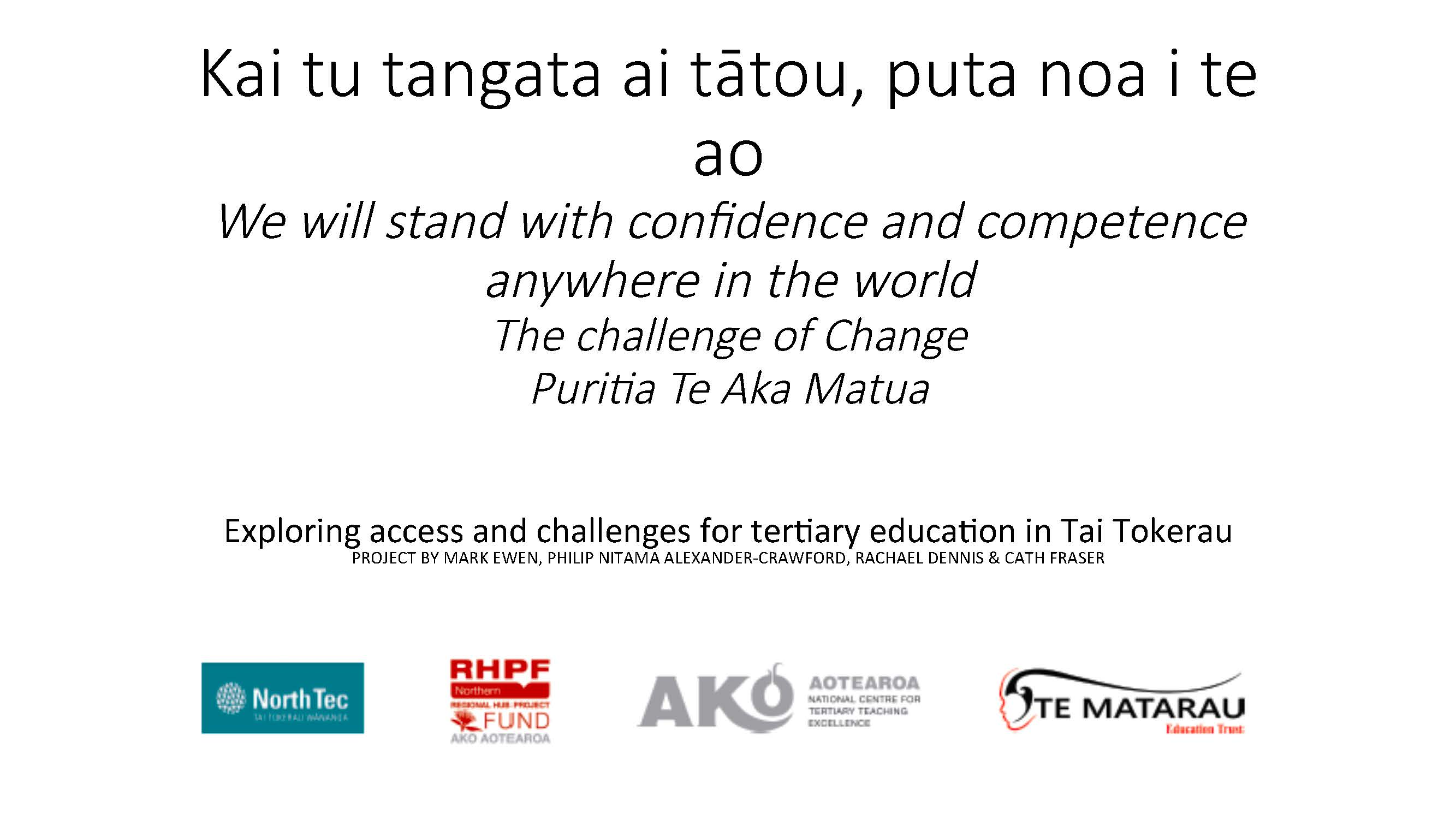 Exploring access and challenges for tertiary education in Tai Tokerau ACE Conference Presentation 2017