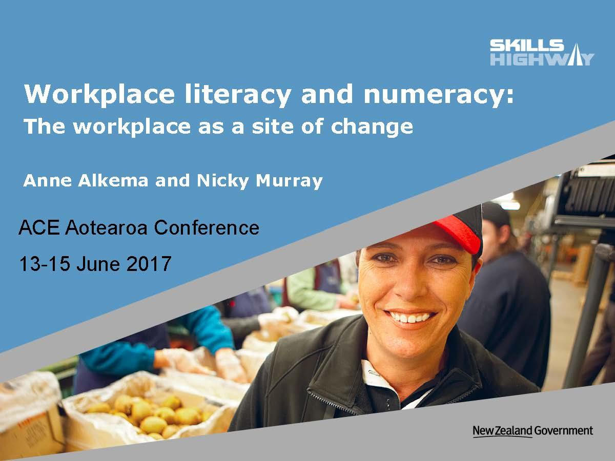 Skills Highway ACE Conference Presentation 2017