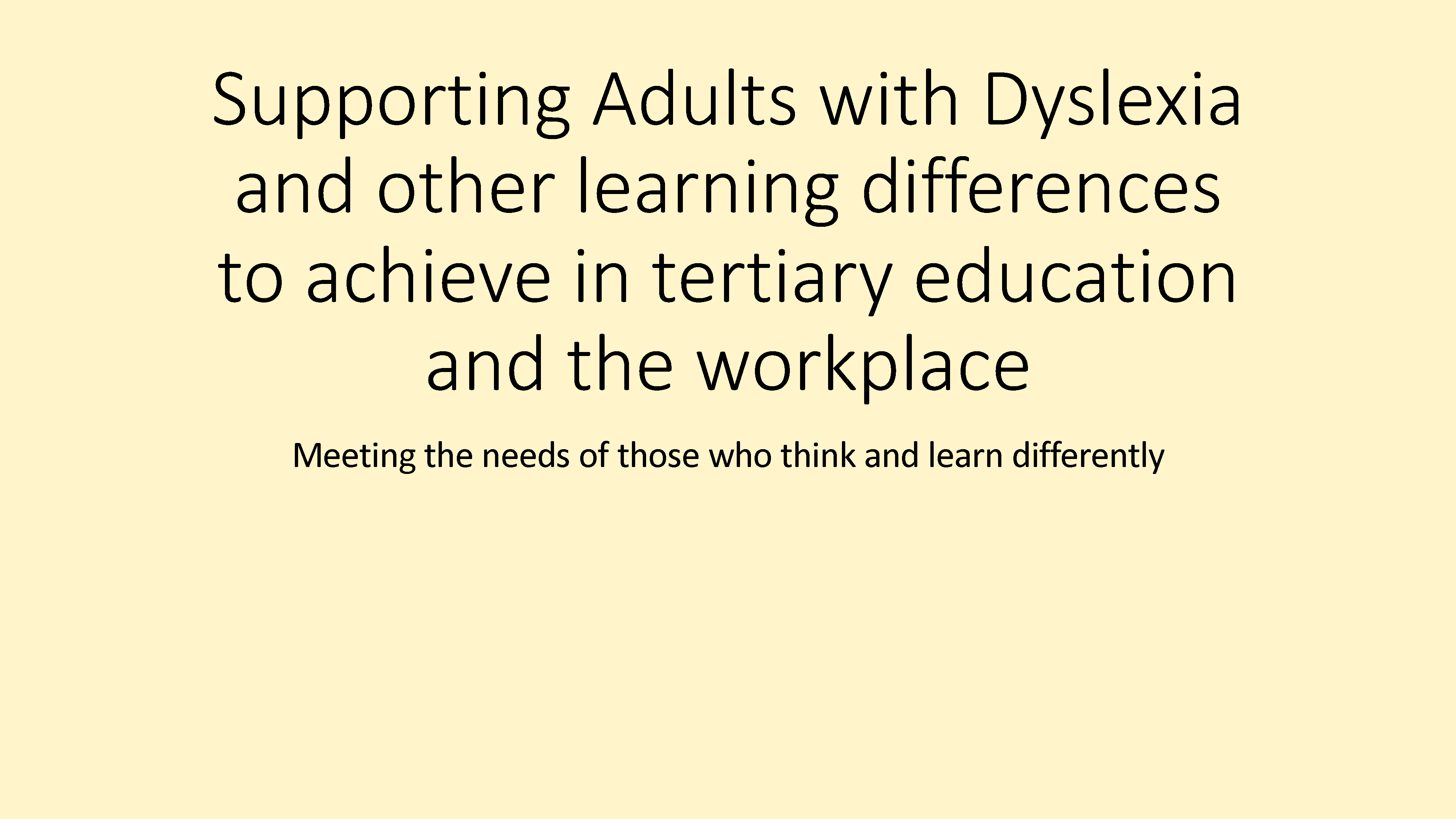 Dyslexia adults workplace