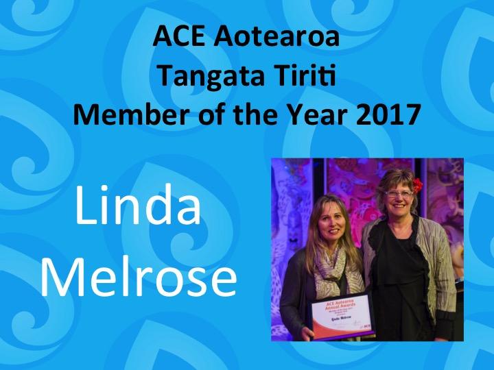 Tangata Tiriti Member of the Year 2017 Linda Melrose