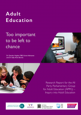 Adult Education, Too important to be left to chance